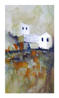 Süden, Haus, Aquarell