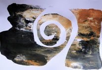 Monotypie, Spirale, Malerei
