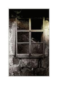 Digital, Bearbeiteten, Fenster im zerfall, Bauernhaus