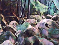 Fantasie, Kubismus, Granit, Bayer
