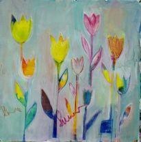 Acrylmalerei, Malerei, Modern, Rose