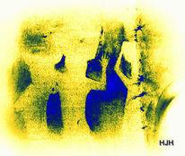 Blau, Korb, Gelb, Frau