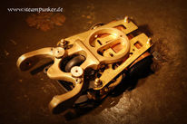 Steampunk, Mechanik, Rechner, Computermaus