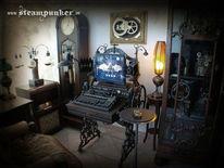 Werkstatt, Retro, Vintage, Arbeitsplatz