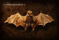 Fledermaus, Fledertiere, Mechanik, Steampunk