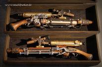 Steampunk, Raygun, Waffe, Pistole