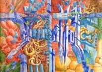 Gemälde, Wallpaper, Wand, Nrw