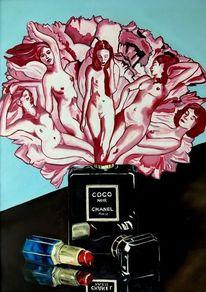 Parfüm, Frau, Flasche, Lippenstift