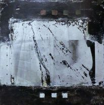 Nicht gegenständlich, Weiß, Moderne malerei, Silber