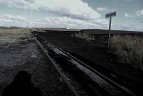 Bahnsteig, Moor, Einsamkeit, Fotografie