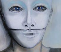 Ölmalerei, Doppelmaske, Hülle, Doppelt