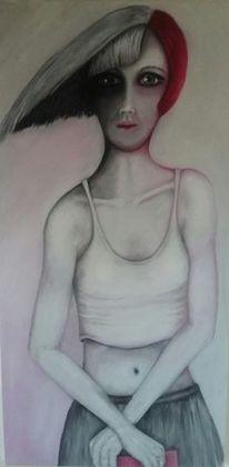Eine farbe, Frauenkörper, Buch, Augen