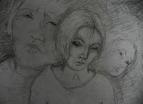 Dunkel, Gedanken, Novemberbluesgrau, Skizze