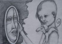 Blick, Prophezeiung, Zuneigung, Spiegelfrau