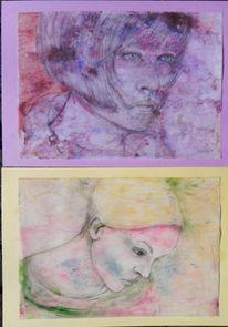 Farben, Gelb, Lila, Frau