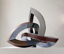Bewegung, Dynamik, Konstruktion, Stahlskulptur