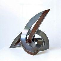 Dynamik, Stahlskulptur, Schwingung, Metall