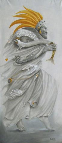 Tanz, Shamane, Grau, Gold