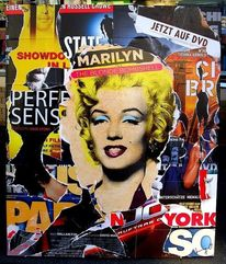 Monroe, Pop art, Plakatkunst, Decollage