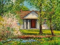 Blumen, Garten, Frühling, Haus