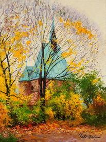 Magdalenenkapelle, Magdeburger, Herbst, Malerei