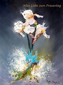 Schwertlilien blumen frauentag, Malerei