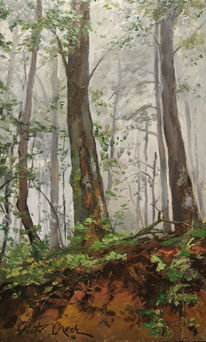 Wald sommer bäume, Malerei, Wald