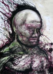Mischtechnik, Acrylmalerei, Surreal, Abstrakt