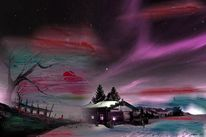 Stillleben, Acrylmalerei, Winter, Traum