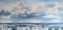 Ostsee, Sommer, Wolken, Rauschende wellen