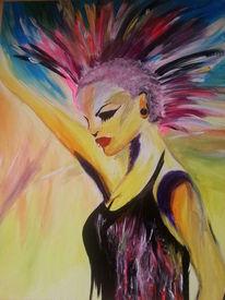 Farben, Acrylmalerei, Punk, Lippen