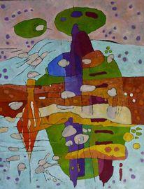 Expressionismus, Panel, Abstrakt, Ölmalerei