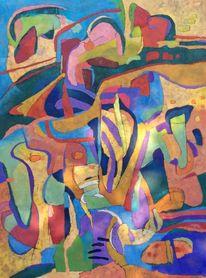 Ölmalerei, Abstrakt, Panel, Expressionismus