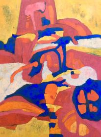 Expressionismus, Ölmalerei, Abstrakt, Panel
