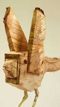 Vogel, Holz, Skulptur, Dekoration