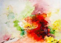 Farbenspiel abstrakt, Aquarell