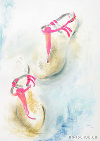Tanz, Neoncolor, Sommer, Damenschuhe