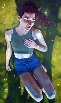 Model, Licht, Mädchen, Malerei