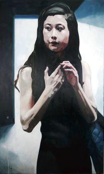 Darkroom, Mädchen, Teenager, Malerei