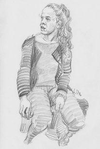 Ubahn, Jung, Mädchen, Zeichnungen