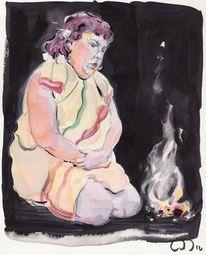 Feuer, Opfer, Ritual, Zeichnungen