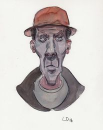 Cool, Portrait, Illustration, Zeichnungen