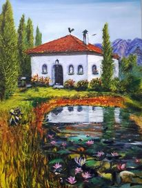 Toskana, Romantik, Landhaus, Sonnenlicht