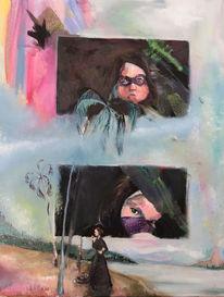 Frau, Landschaft, Schildkröte, Palmen