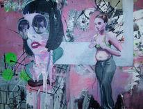Büste, Frau, Malerei,