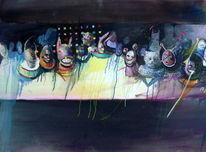Gruppe, Freaks, Portrait, Katze