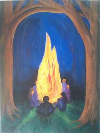 Feuer, Malerei