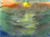 Ebbe, Boot, Aquarellmalerei, Essen