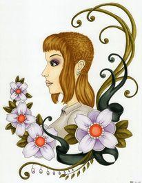 Blumen, Copic, Portrait, Pflanzen