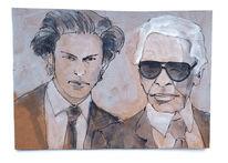 Tod, Karl lagerfeld, Modedesigner, Zeichnungen